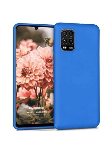 Microsonic Matte Silicone Xiaomi Mi 10 Lite Zoom Kılıf Mavi